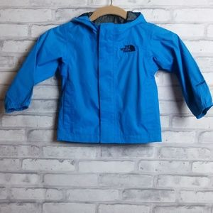 The North Face Blue Hooded Wind Breaker Size 2T/2B